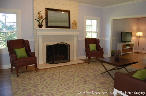 Austin Home Staging After Formal Living Room Picture