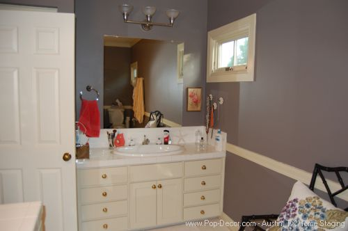 Home Stager Austin Before Bath Room Picture