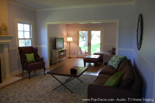 Home Staging Austin Texas After Family Room Picture